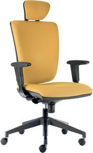 Comfort SY-CPL con poggiatesta, Confortevole sedia per ufficio, con poggiatesta