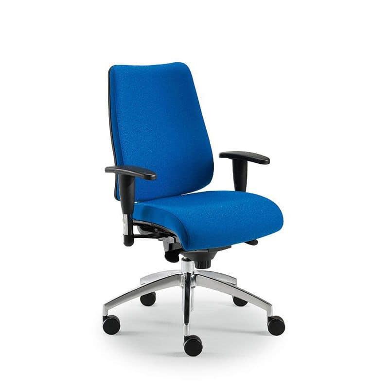 Sedia per ufficio con ruote e altezza regolabile idfdesign for Sedia ufficio alta