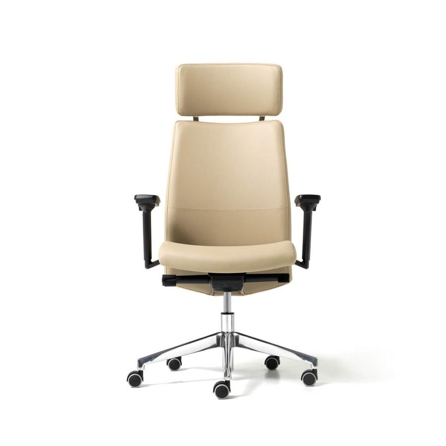 Sedia direzionale ufficio con ruote poggiatesta for Amazon sedie ufficio
