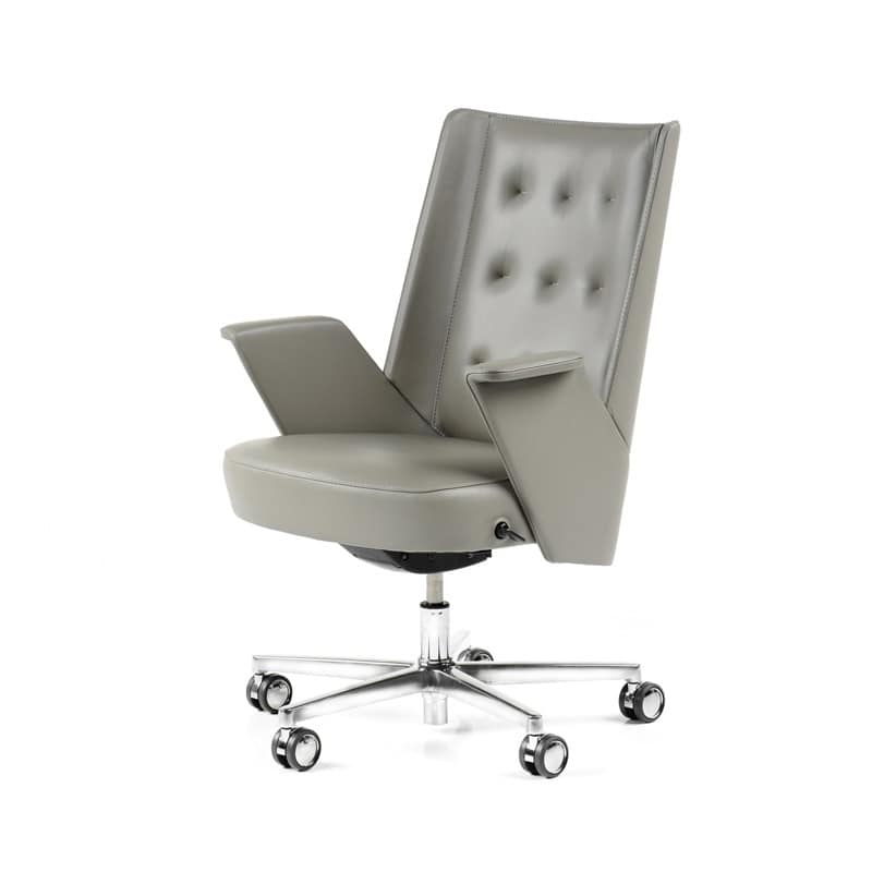 Sedia direzionale con ruote struttura interna in for Sedie da ufficio design