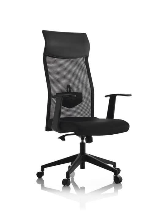 Sedia direzionale con ruote regolatore di tensione for Sedie ufficio design