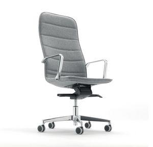 Gea 592, Sedia ergonomica per ufficio, rivestita in tessuto