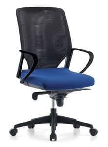 Karina AIR 01, Sedia manageriale per ufficio, schienale in rete