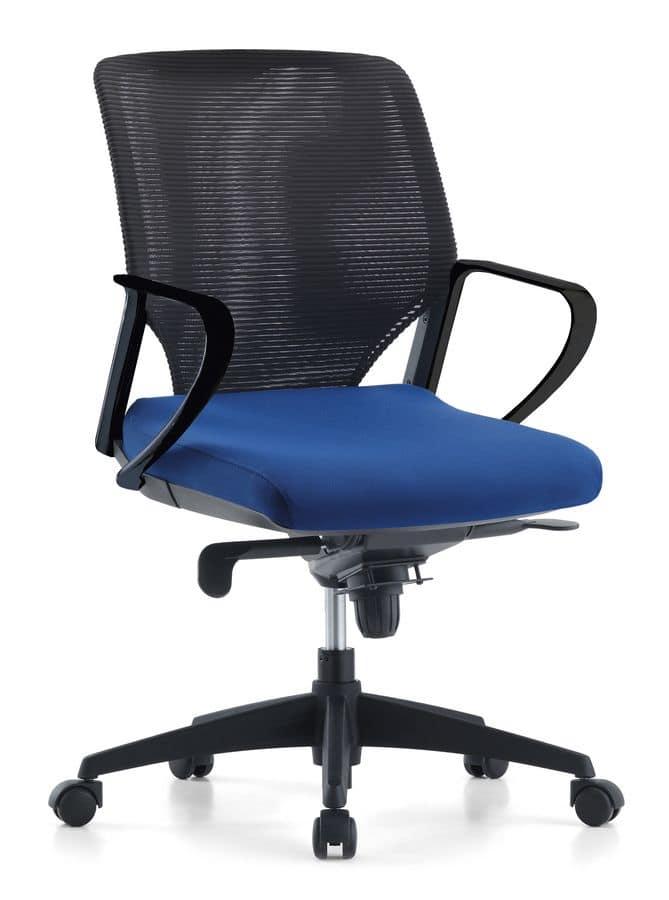 sedia direzionale imbottita in poliuretano per ufficio