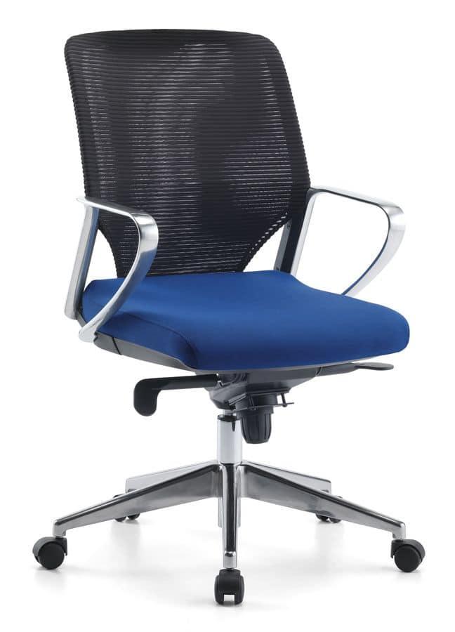 Sedia girevole direzionale con ruote per ufficio idfdesign for Sedie direzionali per ufficio