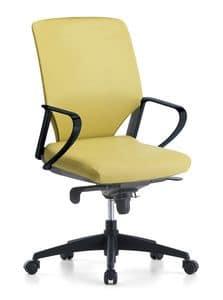 Karina Soft 01, Sedia direzionale per ufficio, con ruote piroettanti