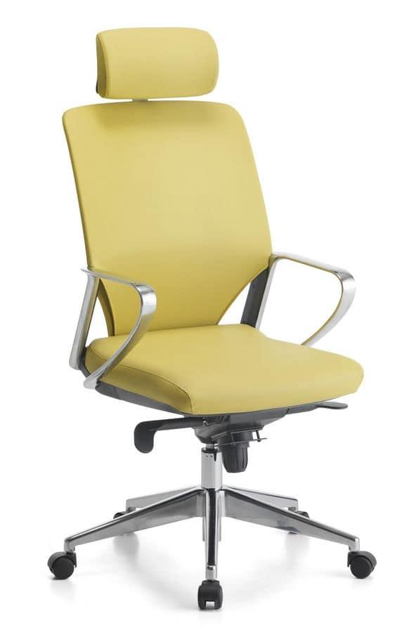 Sedia manageriale, con poggiatesta, per ufficio | IDFdesign