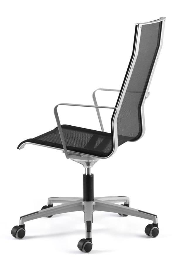Sedia girevole scocca in rete per ufficio direzionale for Design sedia ufficio