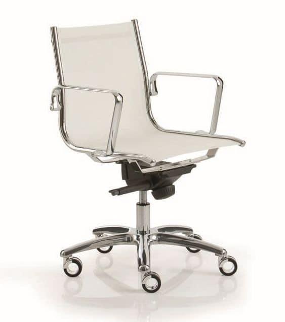 LIGHT 14000, Sedia per ufficio con schienale alto e curvato