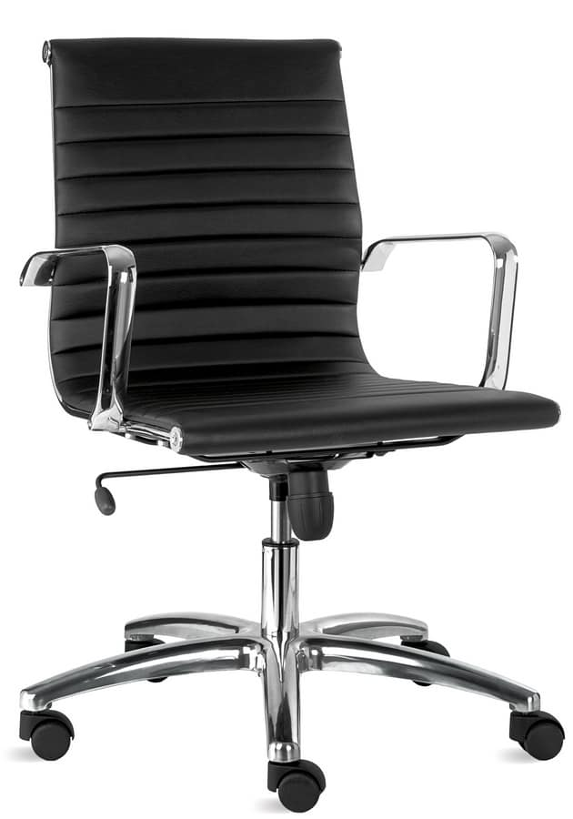 sedia in similpelle per ufficio direzionale idfdesign