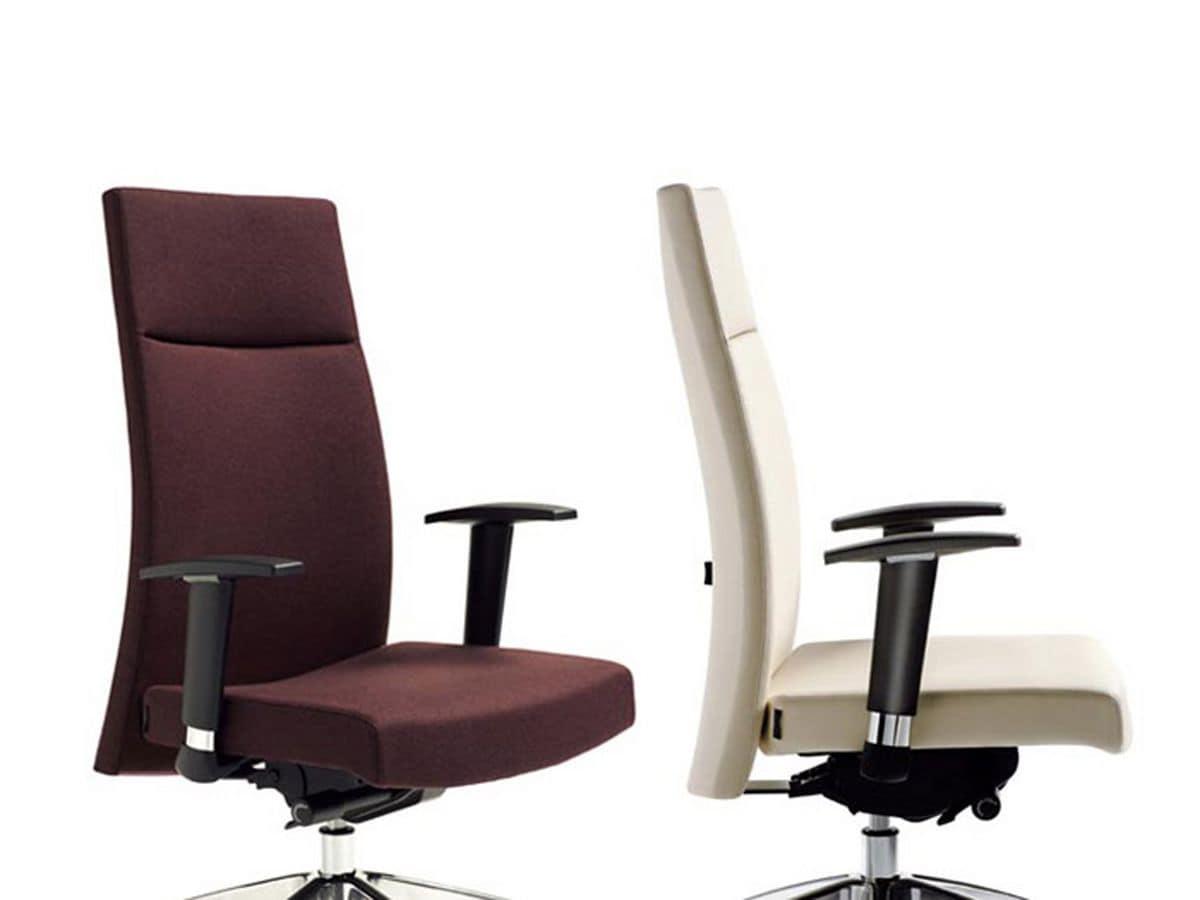 M2 direzionale, Sedie ufficio ergonomiche, con braccioli e base su ruote