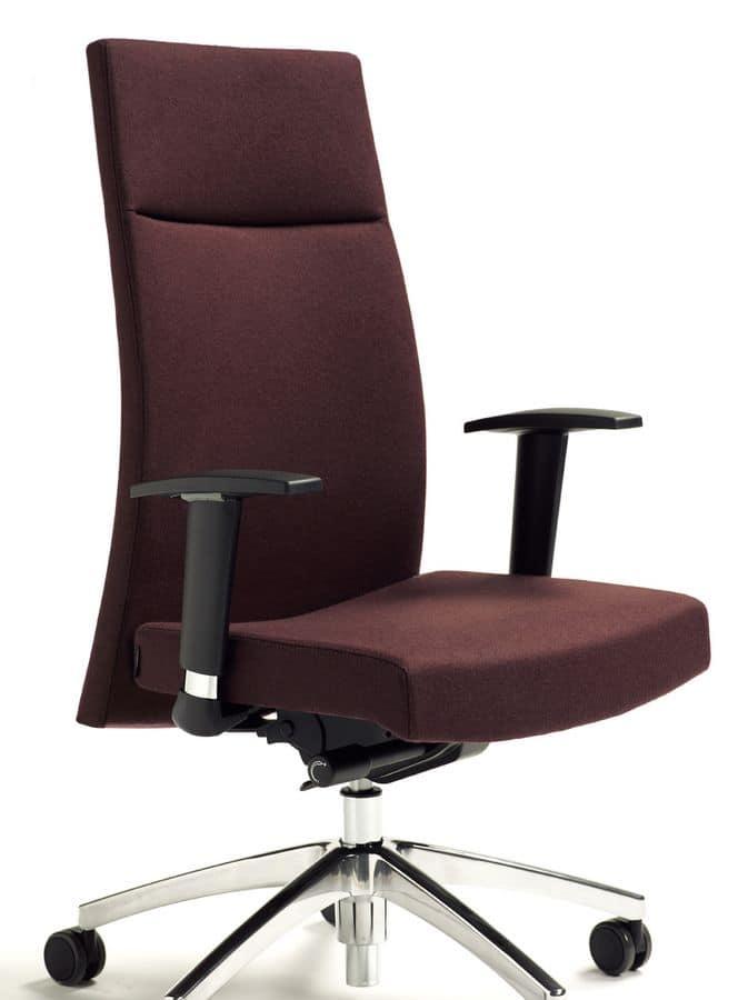 Sedie ufficio ergonomiche, con braccioli e base su ruote  IDFdesign