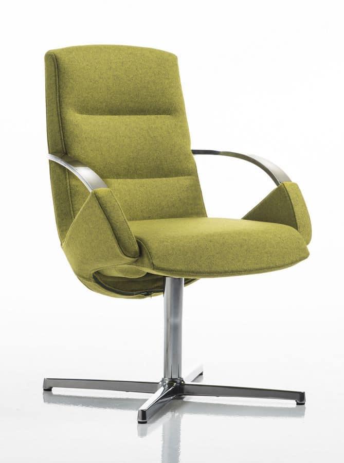 Sedia per ufficio elegante base girevole a 4 razze for Amazon sedie ufficio