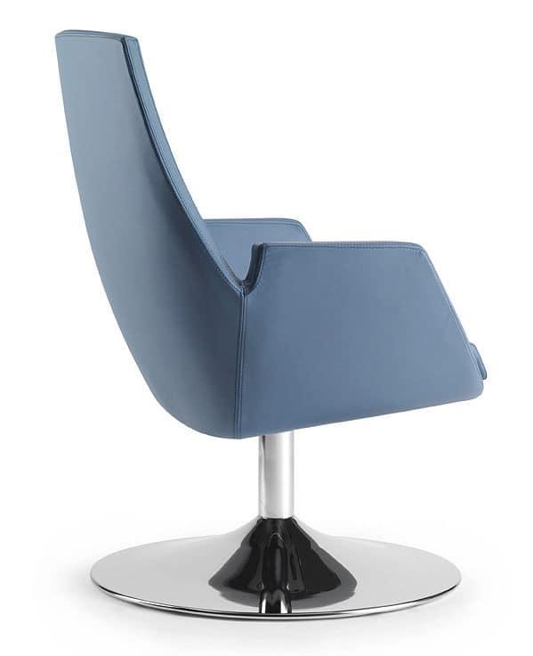 NUBIA 2911, Sedia con imbottitura ad iniezione integrale, per ufficio
