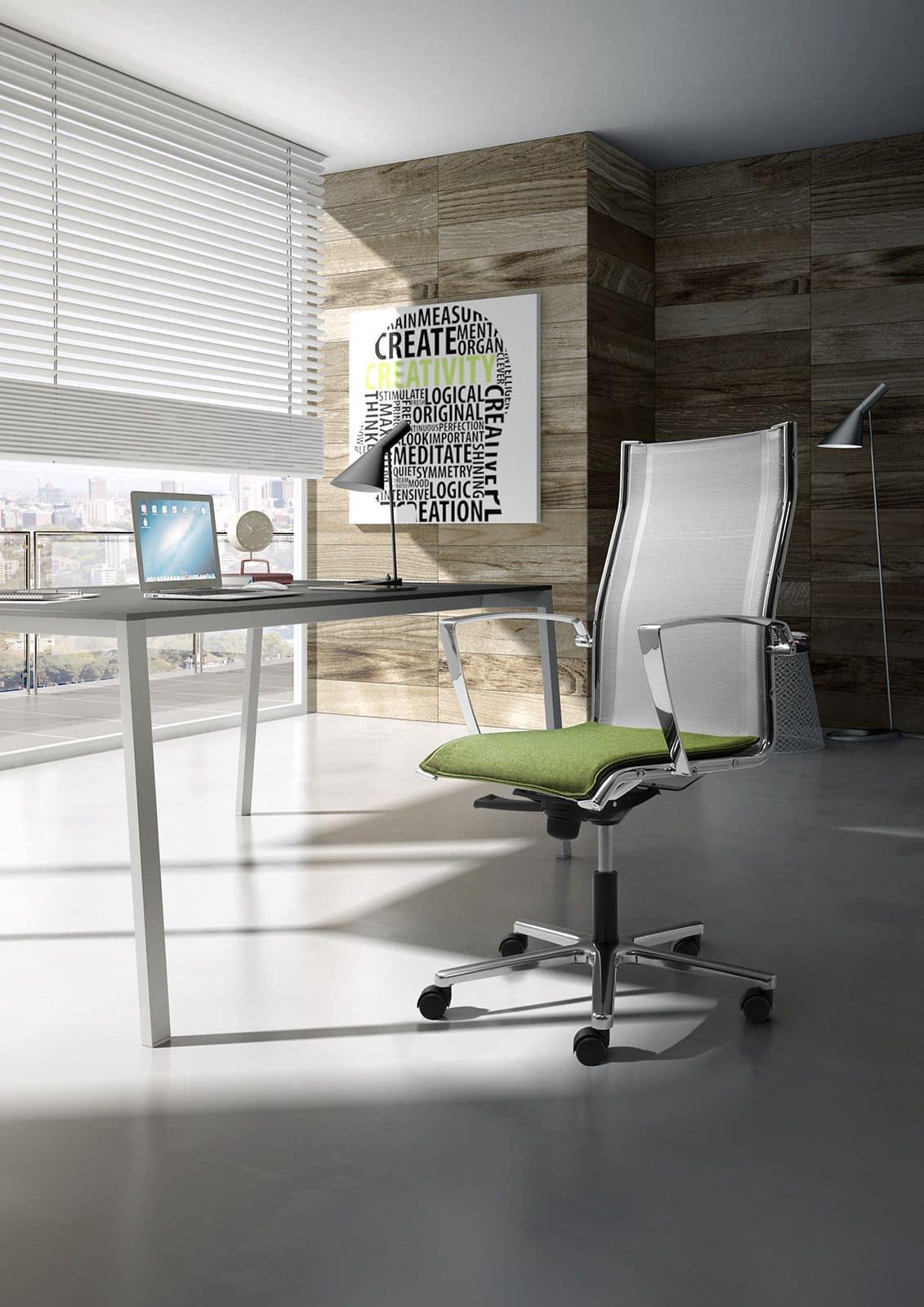 Seduta direzionale con schienale in rete idfdesign for Sedie ufficio design