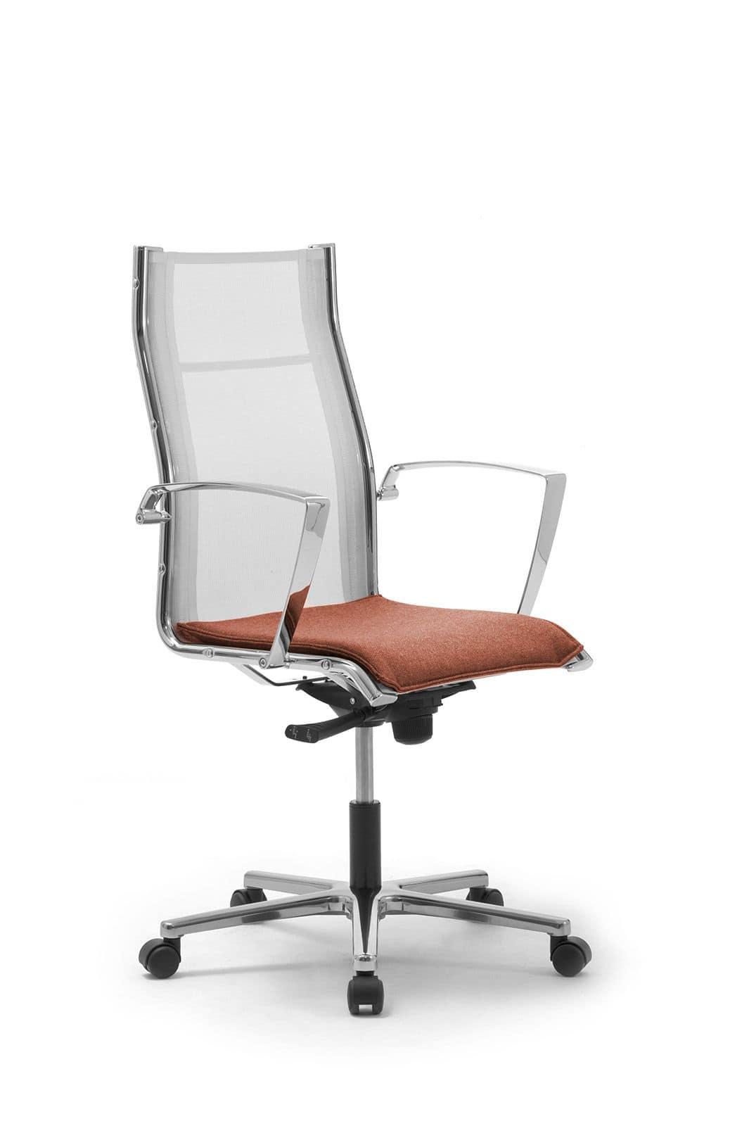 Seduta direzionale con schienale in rete idfdesign for Amazon sedie ufficio