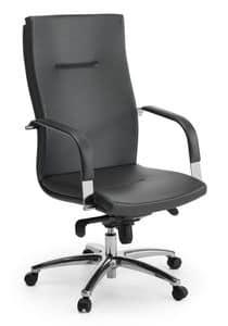 Ottawa 01, Sedia direzionale con schienale alto, per ufficio