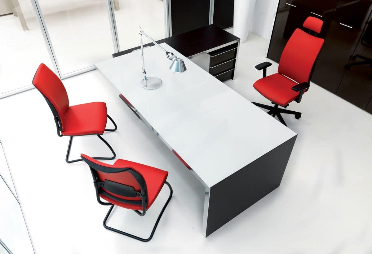 Poltrona Ufficio Elegante : Sedia imbottita per ufficio manageriale elegante rivestimento in