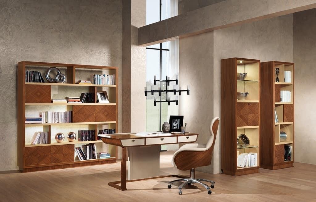 PO59 Cartesio poltrona, Sedia girevole per uffici in stile classico contemporaneo