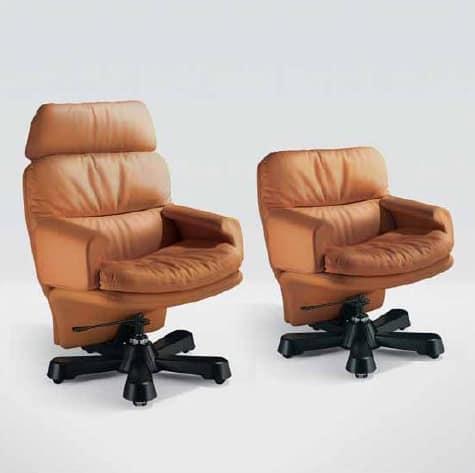Sedia elegante elegante e moderna sedia con braccioli for Sedia ufficio trasparente