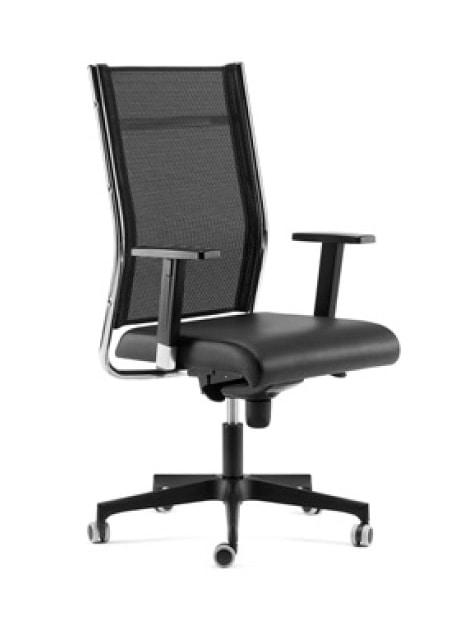 Sedie Ufficio Professionali : Poltrona direzionale schienale rete braccioli regolabili idfdesign