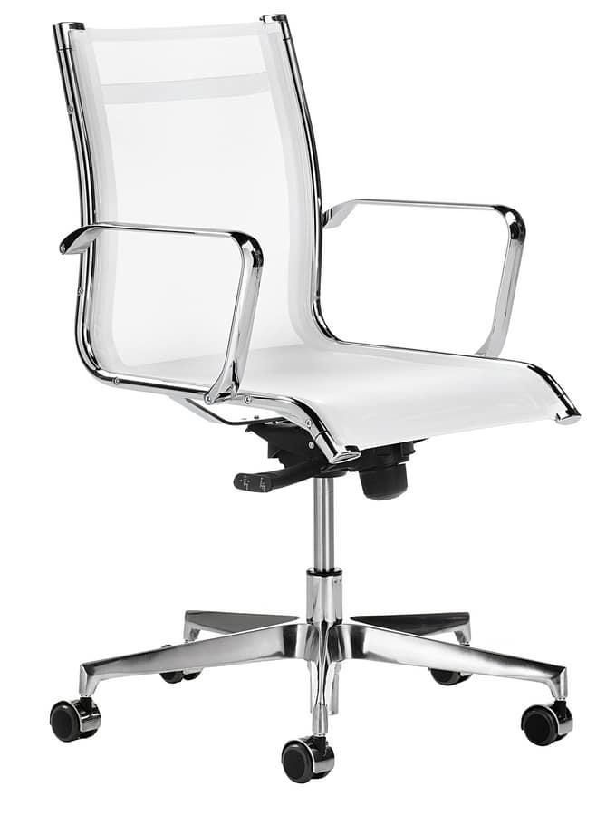 Sedia in rete per ufficio direzionale | IDFdesign