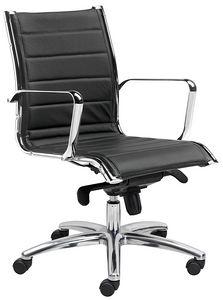 Teknik-T media, Sedia ufficio con schienale medio, imbottita ed ergonomica