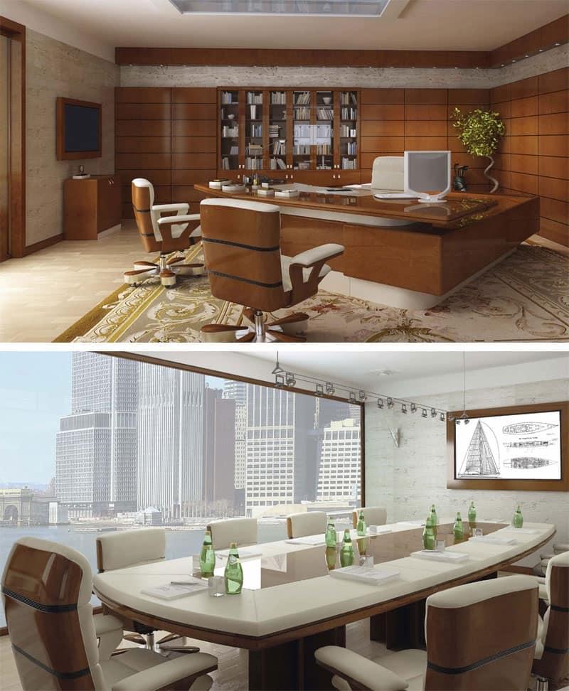 Poltrone direzionali casa padronale idfdesign for Arredo ufficio classico