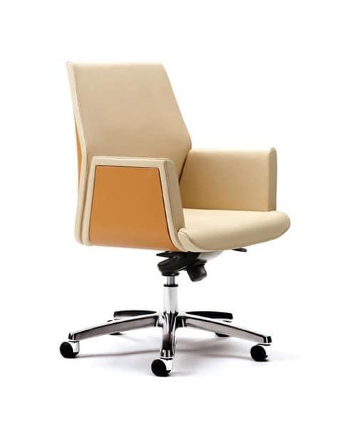 sedie direzionali ufficio moderno rivestimento in pelle