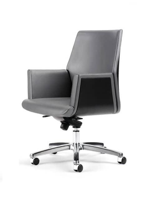 Sedie direzionali ufficio moderno rivestimento in pelle for Rivestimento sedie