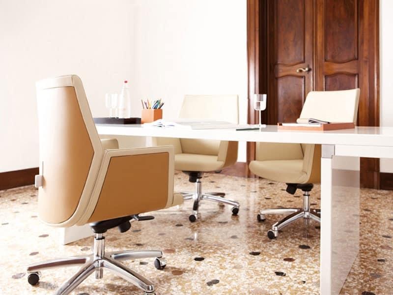 Tua direzionale, Sedie direzionali ufficio moderno, rivestimento in pelle