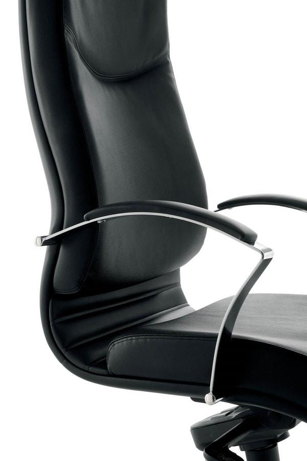 Poltrona direzionale schienale alto con ruote for Amazon sedie ufficio