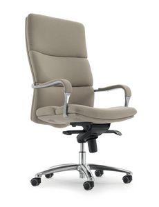 UF 577 A, Sedia con ruote per ufficio, seduta ergonomica imbottita