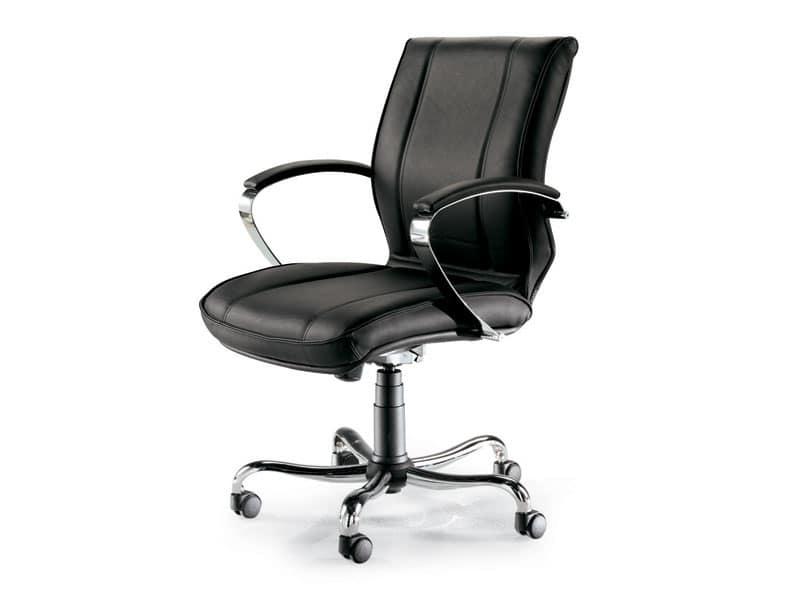 Uf 9100 b sedia su ruote ufficio professionale idfdesign for Sedia ufficio basculante