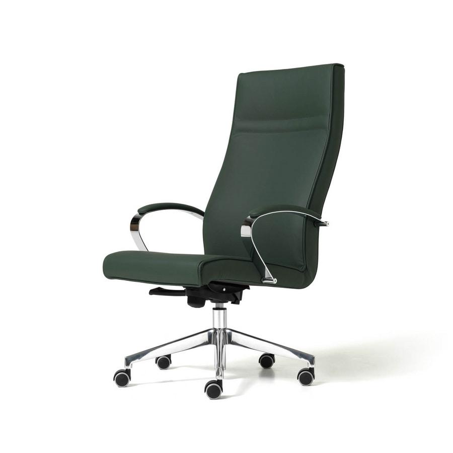 Sedia con 5 razze ergonomica per studio professionale for Poltrone per studio