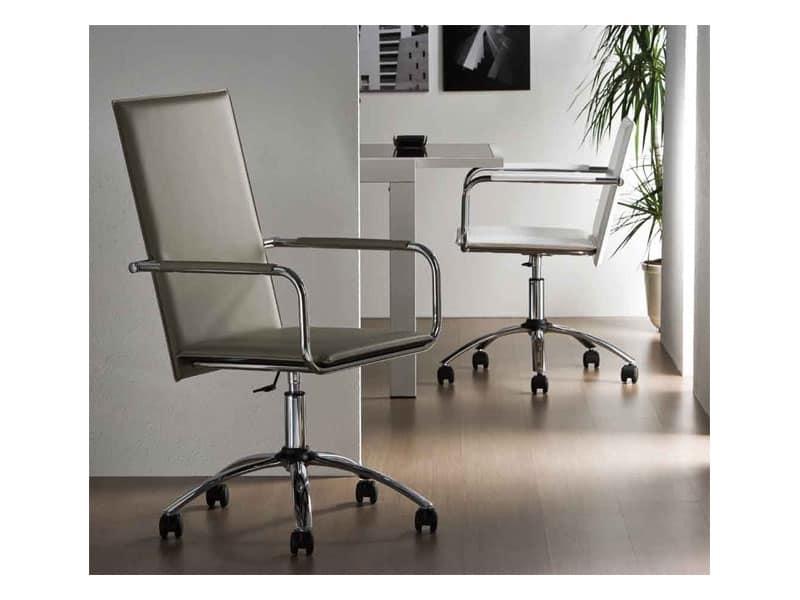 Sedia per ufficio girevole con schienale alto idfdesign for Sedie direzionali per ufficio