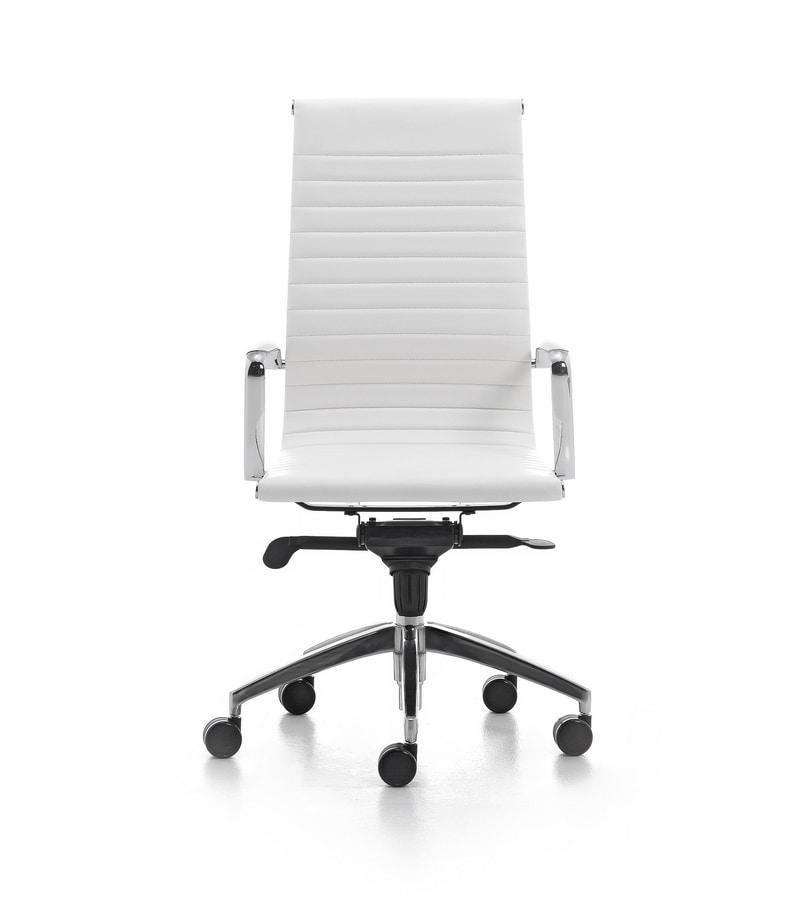 Sedia direzionale per ufficio su ruote braccioli in for Sedie direzionali per ufficio