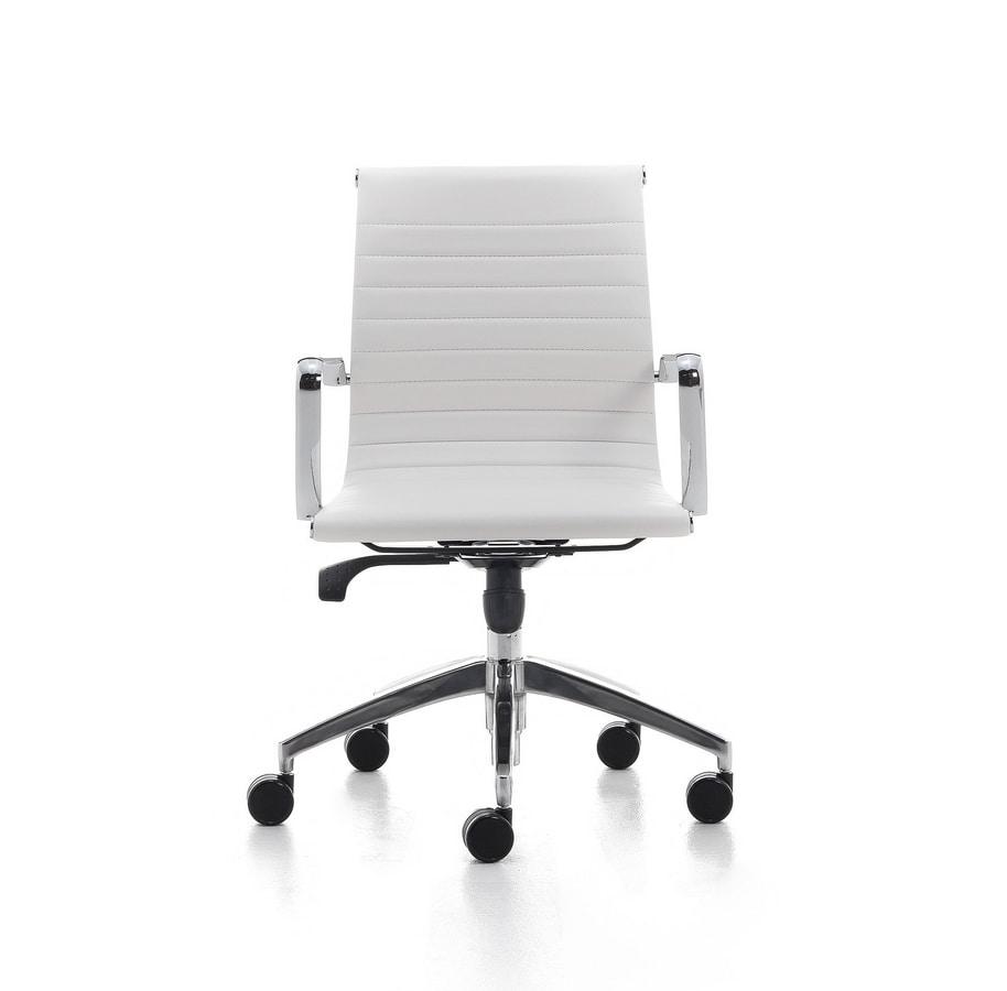 Sedia girevole per ufficio dirigenziale in acciaio for Amazon sedie ufficio
