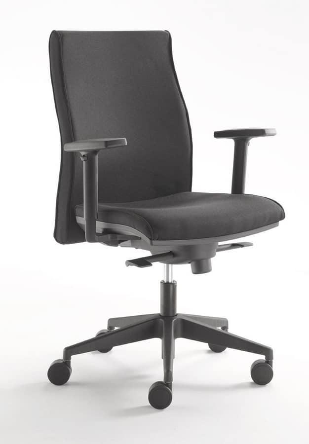 Comoda sedia per ufficio direzionale idfdesign for Sedia design comoda
