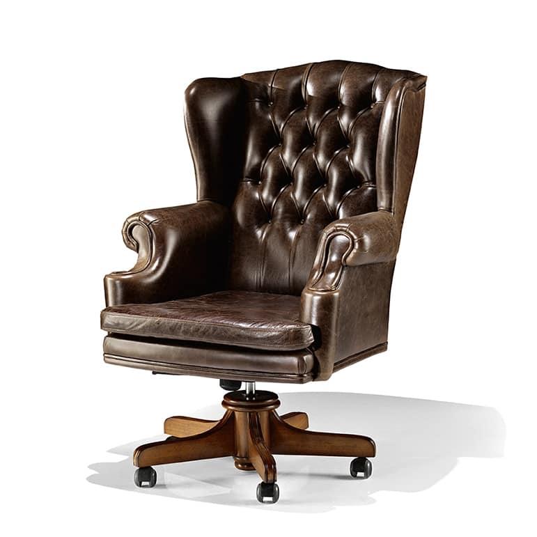 Sedute sedie ufficio presidenziali classiche idf for Poltrona studio