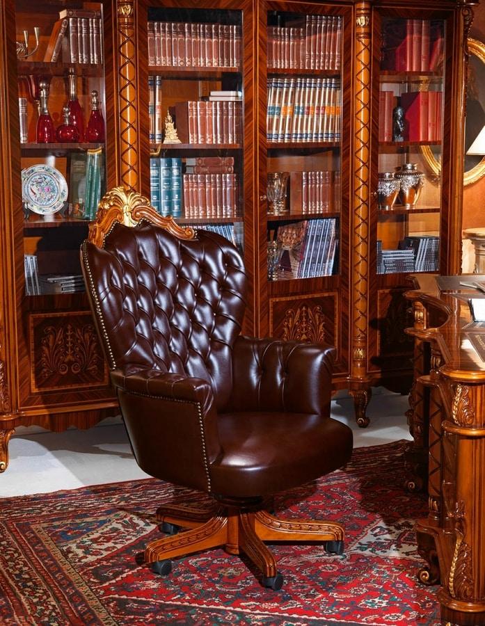 Poltrona presidenziale per uffici lussuosi imbottitura - Sedie e poltrone ufficio ...