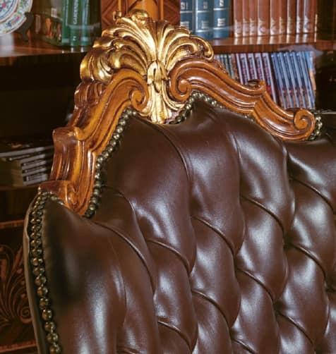 Art. 635, Poltrona presidenziale per uffici lussuosi, imbottitura capitonnè