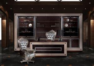 Decò B/140/1/S, Poltrona girevole, adatta per arredare uffici classici di lusso
