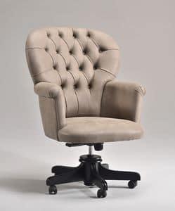 GLOBE OFFICE poltrona ufficio 8348A, Sedia su ruote per uffici presidenziali, capitonn�