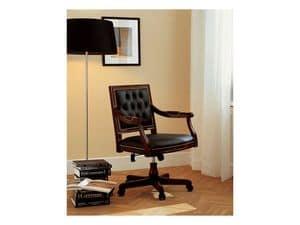 LUIGI XVI QUADRA ufficio 8223A, Poltrona di lusso per uffici presidenziali, basculante