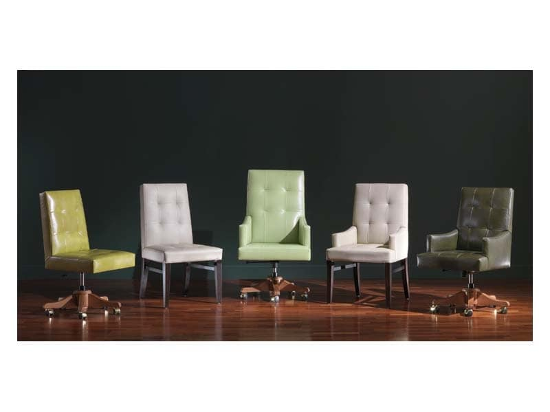 Sedia presidenziale in pelle uffici presidenziali idfdesign for Sedie ufficio design milano