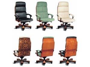 Immagine di Vela Legno, sedie presidenziali in pelle