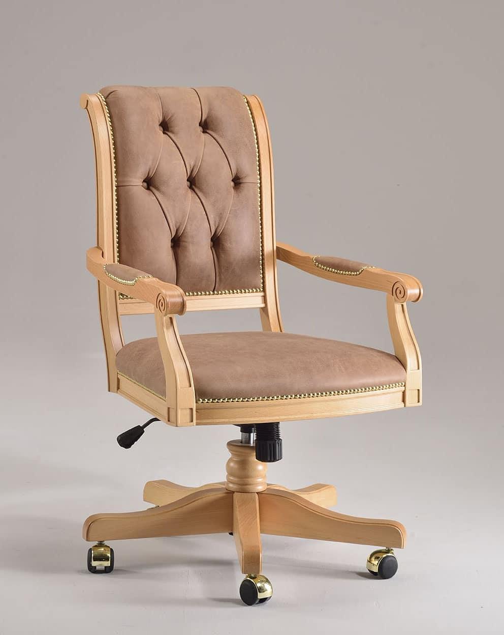 Sedia classica girevole imbottita per uffici direzionali - Sedie e poltrone ufficio ...