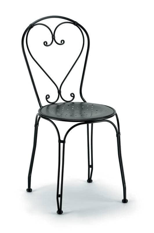 sedia in ferro zincato per esterno idfdesign
