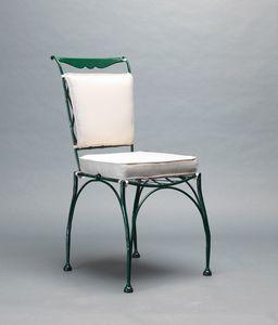 FLORIO GF4005CH, Sedia in ferro battuto per esterno